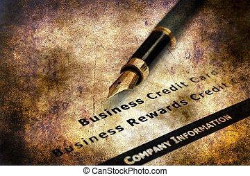 hitel, névjegykártya, alkalmazás