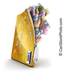 hitel, nyílik, kártya, 3