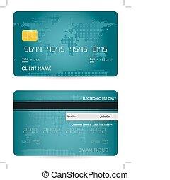 hitel, vektor, kártya