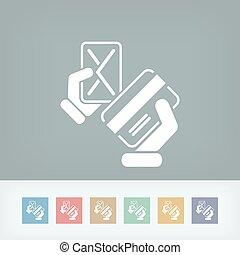 hitelkártya, ikon