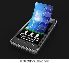 hitelkártya, smartphone