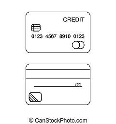 hitelkártya, vektor