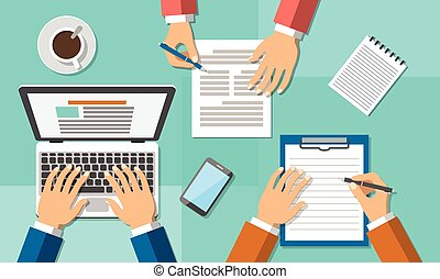 hivatal, csapatmunka, üzleti találkozás