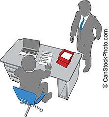 hivatal emberek, értékelés, erőforrás, emberi, ügy