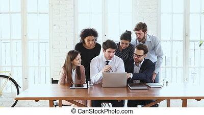 hivatal, laptop, hat, elmezavar, befog, gyűjt, ügy