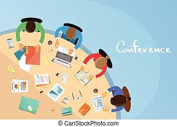 hivatal, tanácskozás, ügy, ülés, emberek, dolgozó, csapatmunka, asztal