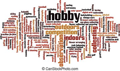 hobbi, szó, felhő