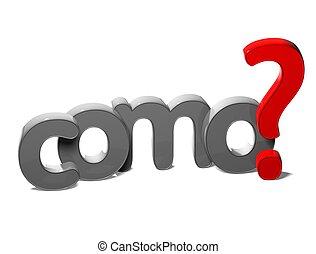 hogyan, kérdez, (como), háttér, nyelv, spanyol, 3, szó, fehér