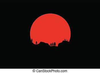 hold, árnykép, háttér, természet