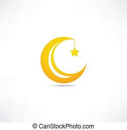 hold, csillag, ikon