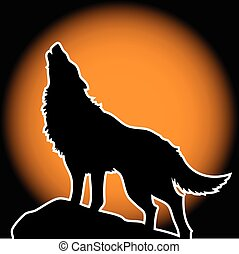 holdfény, ordító, farkas