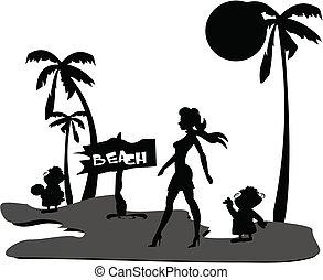 hollywood, díva, tengerpart