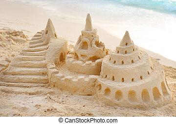 homok bástya, tengerpart