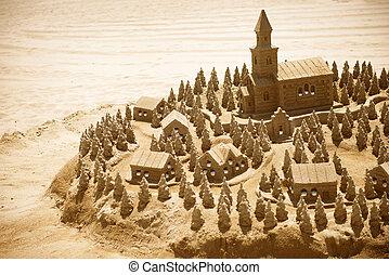 homok tengerpart, bástya