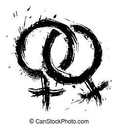 homoszexuális, szeret, womans