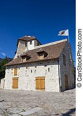 honfleur, calvados, normandia, kilátás, franciaország