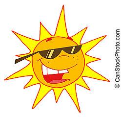 hord árnyalat, nap, nyár