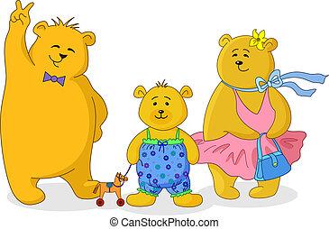 hordoz, család, teddy-mackó