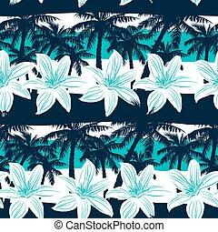 horgonykapák, frangipani, csíkoz, seamless, tropikus, motívum