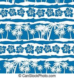 horgonykapák, frangipani, seamless, tropikus, motívum, tengerpart