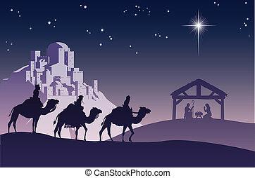 horoszkóp, keresztény, christmas táj