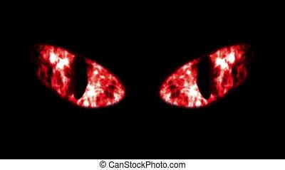 """""""horrible, villanás, fekete, eyeballs"""", macska"""