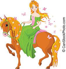 horse., lovaglás, hercegnő, eredet