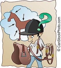 horse-rider, tapasztalatlan