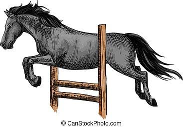 horserace., jelkép, sport, versenyzés, lovas