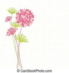 hortenzia, virág, tavasz, háttér