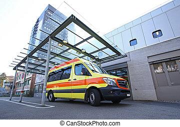 hospital's, belépés, elsősegélyszoba