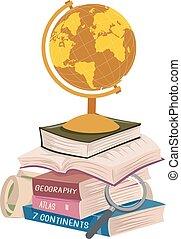 hosszú, előjegyez, ábra, felolvasás, kazal, földrajz