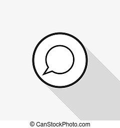 hosszú, vektor, beszéd, háttér, árnyék, panama, ikon