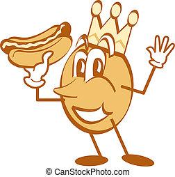 hot dog, művészet, karikatúra, csíptet, kabala