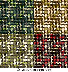 houndstooth, állhatatos, patterns., álcáz