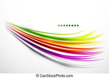 hullámos, megvonalaz, színes