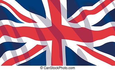 hullámzás, nemzeti lobogó, brit