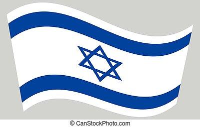 hullámzás, szürke, israel lobogó, háttér