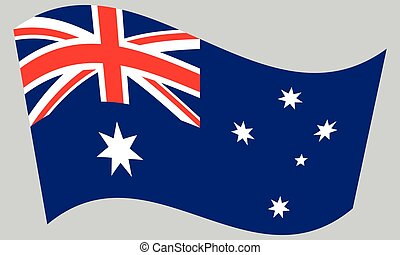 hullámzás, szürke, lobogó, ausztrália, háttér