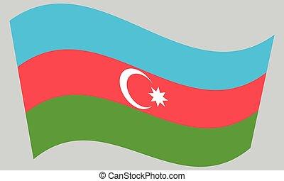 hullámzás, szürke, lobogó, azerbajdzsán, háttér