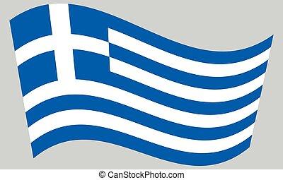 hullámzás, szürke, lobogó, háttér, görögország