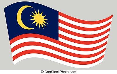 hullámzás, szürke, lobogó, háttér, malaysia