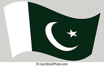 hullámzás, szürke, lobogó, háttér, pakisztán