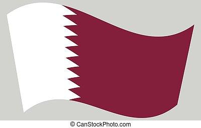 hullámzás, szürke, qatar lobogó, háttér
