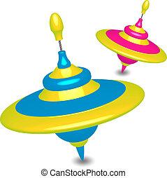 humming-tops, színes