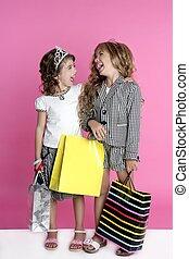 humor, kevés, shopaholic, anyagbeszerző, lány