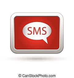 icon., ábra, sms, vektor