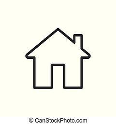 icon., épület, vektor, ábra