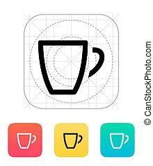 icon., üres, coffe csésze