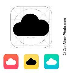 icon., felhő, kiszámít